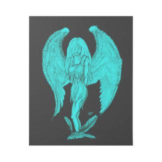 Impresión Con Bastidor Diseño del ángel, del negro y del verde