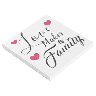 Impresión Con Bastidor El amor hace a una familia - adopción de la