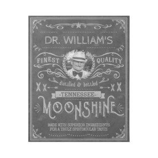 Impresión Con Bastidor Gris de encargo del vintage de la medicina del