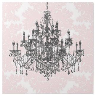 Impresión Con Bastidor Lámpara rosada del damasco