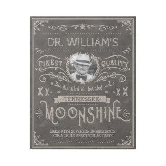 Impresión Con Bastidor Personalizado Brown del vintage de la medicina del