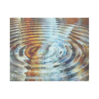 Impresión Con Bastidor Pintura inversa del agua de la reflexión