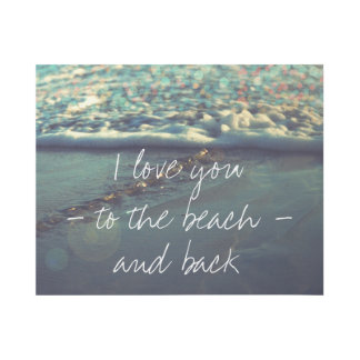 Impresión Con Bastidor Te amo a la playa y a la parte posterior