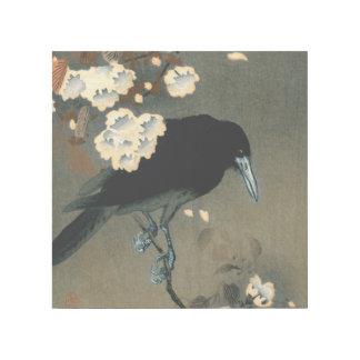 Impresión Con Bastidor Un cuervo y un flor por el vintage de Ohara Koson