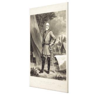 Impresión confederada de general Roberto E. Lee Po Impresión En Lona