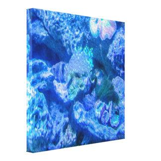 Impresión coralina eléctrica de la lona