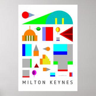 Impresión creativa del poster del arte de Milton