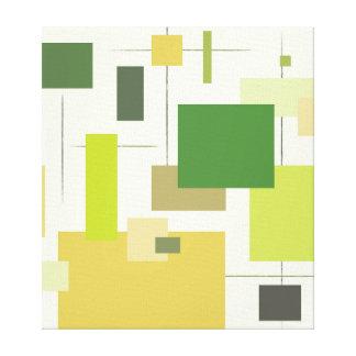 Impresión cuadrada verde moderna de la lona de los