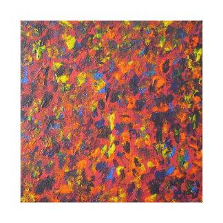 Impresión de acrílico abstracta de la lona de arte