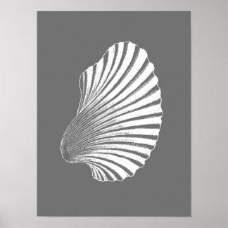 Impresión de bloque de Shell de concha de
