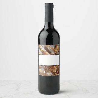 Impresión de bronce de la gota de los tonos de la etiqueta para botella de vino