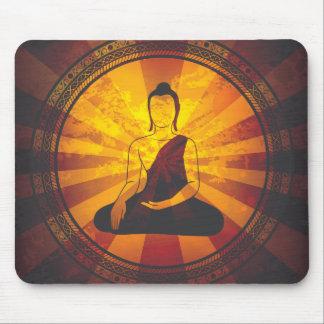 Impresión de Buda del vintage Tapetes De Ratón