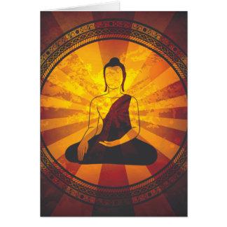 Impresión de Buda del vintage Felicitaciones