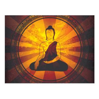 Impresión de Buda del vintage Tarjetas Postales