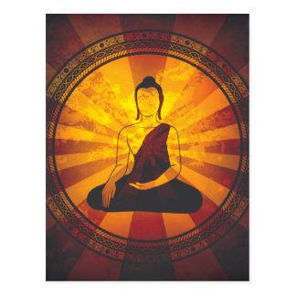 Impresión de Buda del vintage Postales