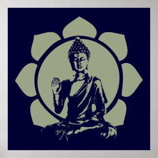 Impresión de Buda Lotus Impresiones