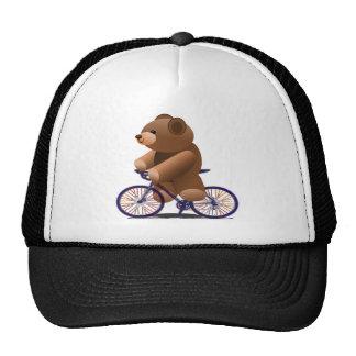 Impresión de ciclo del oso de peluche gorras