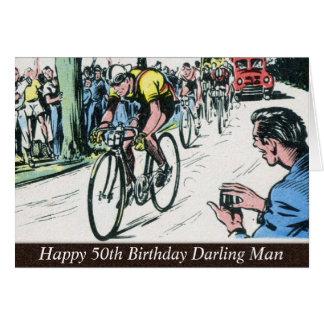 Impresión de ciclo del vintage tarjeta de felicitación
