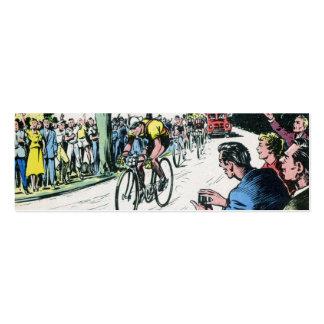 Impresión de ciclo del vintage plantillas de tarjeta de negocio