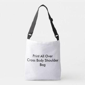 Bolso Cruzado Impresión de DIY por todo la bolsa para