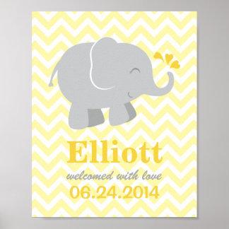 Impresión de encargo del arte para el elefante gri poster