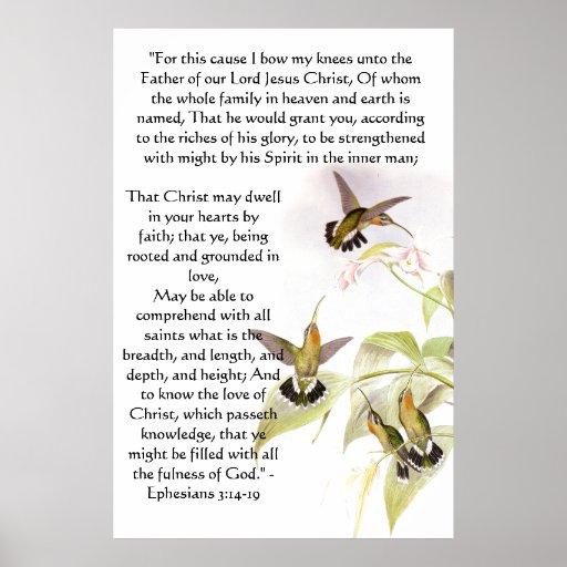 Impresión de Ephesians 3 de los colibríes Impresiones