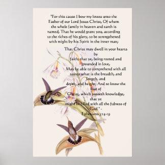 Impresión de Ephesians 3 de los colibríes