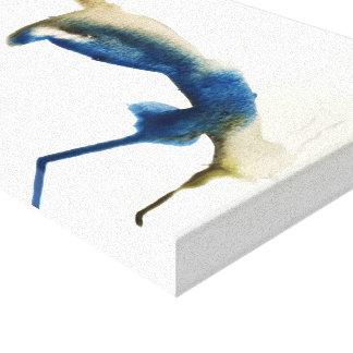 Impresión de la acuarela del arrendajo azul de