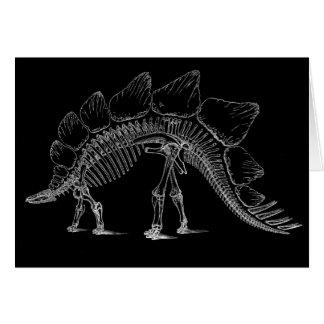 Impresión de la antigüedad del dinosaurio del Steg Tarjetón