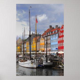 Impresión de la bella arte del color de Copenhague