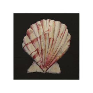 impresión de la cáscara de concha de peregrino en