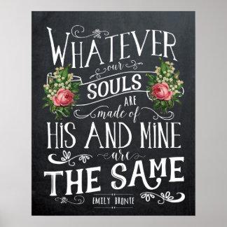 Impresión de la cita de Emily Bronte