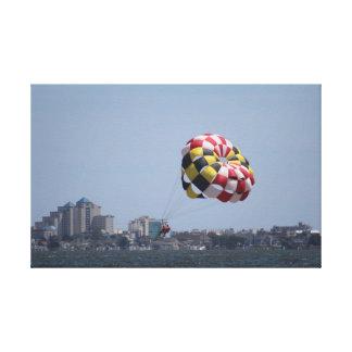 Impresión de la ciudad del océano - Parasail en la