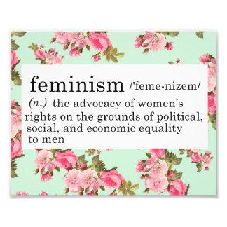 Impresión de la definición del feminismo impresiones fotograficas