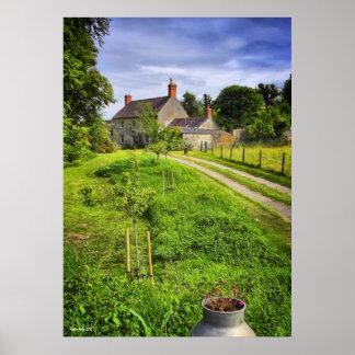 Impresión de la escena de la granja de Wiltshire Poster