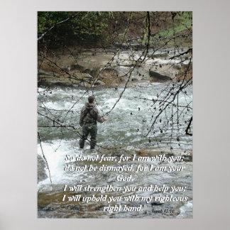 Impresión de la fe del 41:10 de Isaías del río del
