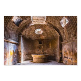 Impresión de la foto - baños romanos - Pompeya