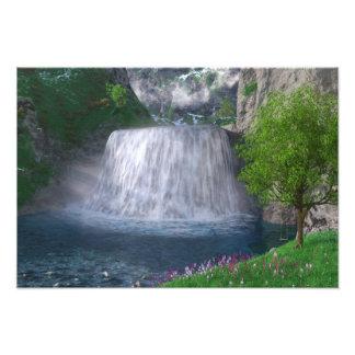 Impresión de la foto de la cascada de Cwm