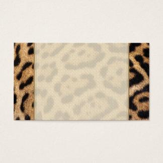 Impresión de la foto de la piel de Jaguar Tarjeta De Negocios