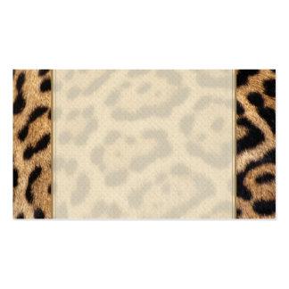 Impresión de la foto de la piel de Jaguar Tarjeta De Negocio