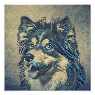 Impresión de la foto de la pintura del perro