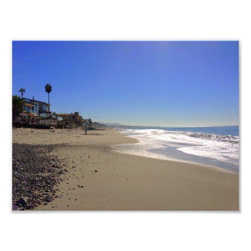 Impresión de la foto de la playa