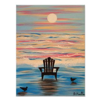 Impresión de la foto de la silla de playa de