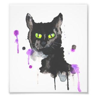 Impresión de la foto del gato negro
