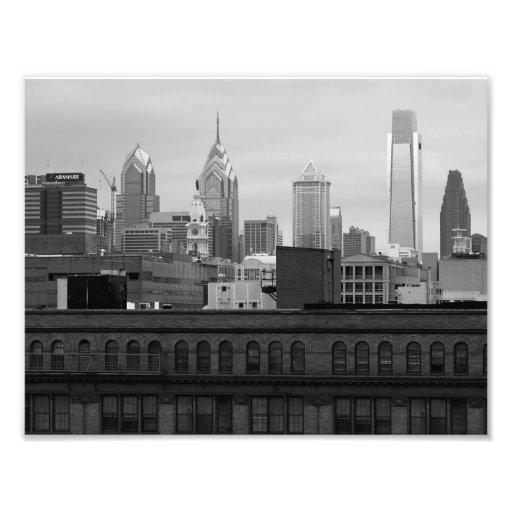 IMPRESIÓN de la FOTO del horizonte 8x10 B&W de Phi