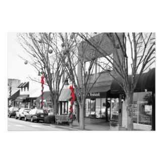 Impresión de la foto del navidad de la calle princ