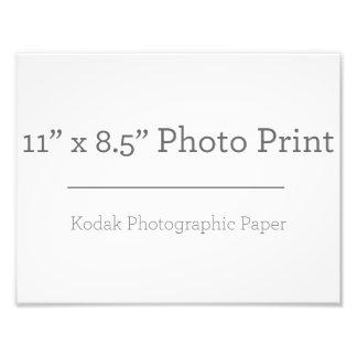 Impresión de la foto del personalizado 11 x 85