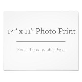 Impresión de la foto del personalizado 14 x 11