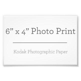 Impresión de la foto del personalizado 6 x 4