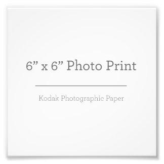 Impresión de la foto del personalizado 6 x 6
